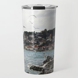 the old pier of Ohrid Travel Mug