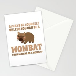 Wombat Funny Gift Idea Stationery Cards