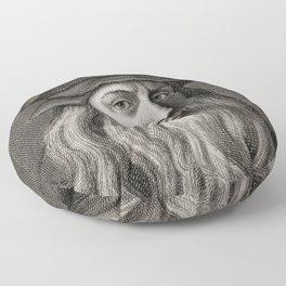 Leonardo da Vinci Floor Pillow