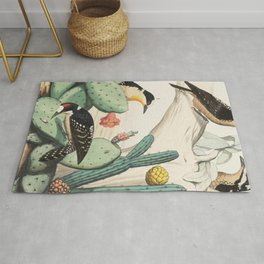 Woodpeckers And Cacti Rug