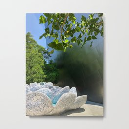 Mosaic Fountain Metal Print
