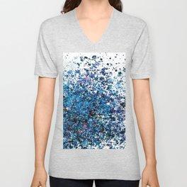 Crystallize- Blue Spatter  Unisex V-Neck