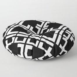 Geometric Tile // Black Floor Pillow