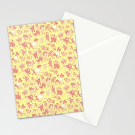 Dogs In Sweaters (Yellow) Stationery Cards