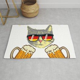 """Beer Shirt For Alcoholic """"Purrost"""" T-shirt Design Alcohol Wheat Drunk Partying Craft Bear Foam Rug"""