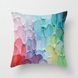 Polka Daub Feathers Throw Pillow