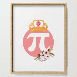 Queen Of Pi Cute Math Pi Day Serving Tray