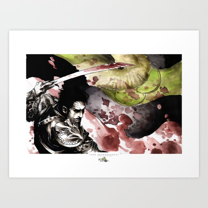 Blood and Country Art Print