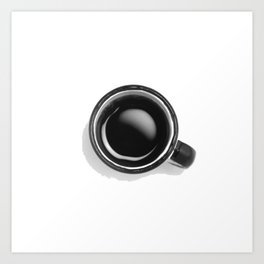 Cup of Coffee (Black and White) Art Print