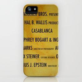 Casablanca cast & crew iPhone Case