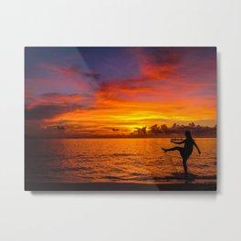 Sunset Isla Mujeres, Mexico Metal Print