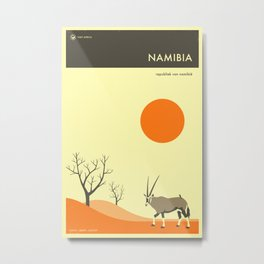 NAMIBIA TRAVEL POSTER Metal Print