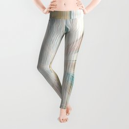 Grunge wooden vector texture in pastel vibrant color Leggings