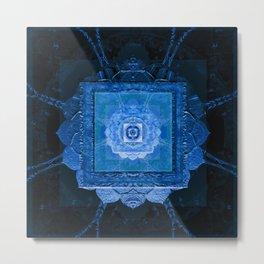 Cosmic Vortex Painted Vintage Mandala Metal Print