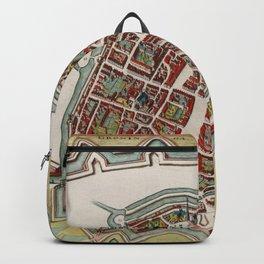 Vintage Groningen Netherlands Map (1636) Backpack