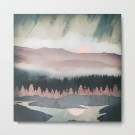 Forest Lake Evening Metal Print
