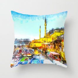 Istanbul Art Throw Pillow