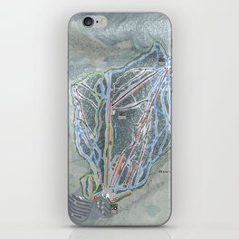 Waterville Valley Resort Trail Map iPhone Skin