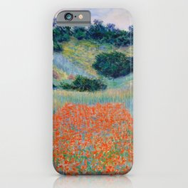Poppy Field in a Hollow near Giverny Claude Monet iPhone Case