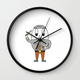 Knife-Thrower Egg Wall Clock