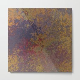 Dark rough copper red ground Metal Print