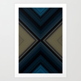 Blue Sarcophagus Art Print