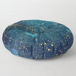 Star Map :: City Lights Floor Pillow
