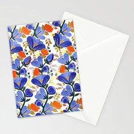 folk spring flowers no2 Stationery Cards