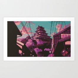 Hasetsu Castle Kunstdrucke