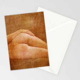 Julie Darling 0853 Rustic - Nue Nude ~ Vintage Art  ~ Bodyscape of a Woman Stationery Cards