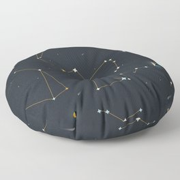 Orion and the Pleiades Floor Pillow