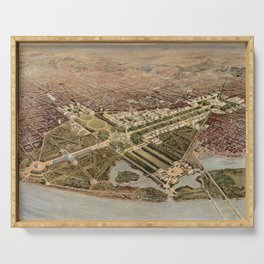 Vintage Map of Washington DC (1915) Serving Tray