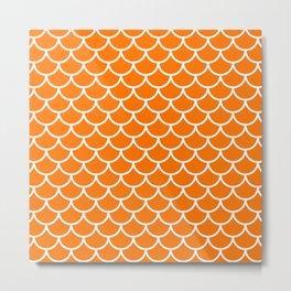 Orange fish scales pattern Metal Print