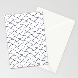 Moroccan Pattern Neck Gator Wavy Morrocan Stationery Cards