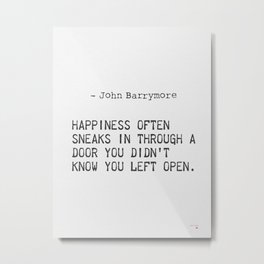 John Barrymore quote Metal Print