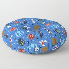 Anime Manga Ghibli Inspired Cute Cheerful Creatures Floor Pillow