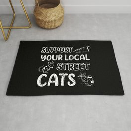 Raccoon Support Your Local Street Cats Humor Animal Gift Rug