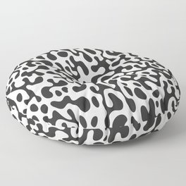 Black Ghostly Spill Floor Pillow