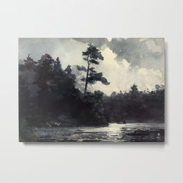 Adirondack Lake by Winslow Ho mer (1889) Metal Print