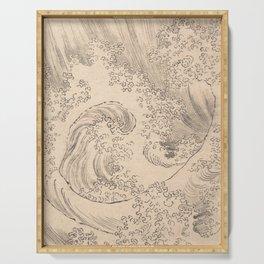 Wave by Katsushika Hokusai 1760–1849, Japanese Serving Tray