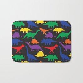 Dinosaurs - Black Bath Mat