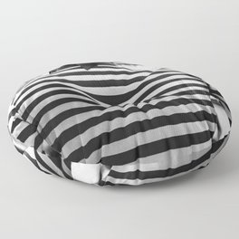 Venice black and white street photography Floor Pillow