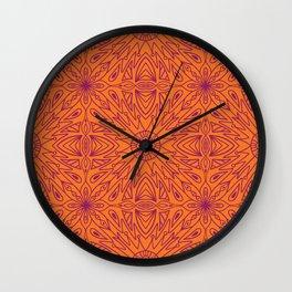 Symmetry Orange Wall Clock