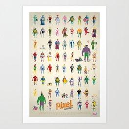 Pixel Nostalgia Art Print