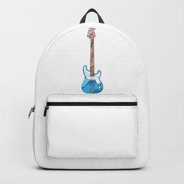 Blue Bass Guitar Backpack