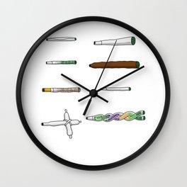 Marijuana Weed Smoker Cannabis Ganja Wall Clock