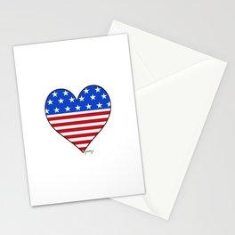 USA Heart Stationery Cards