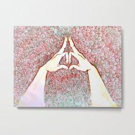Yoga mudra 01 Metal Print