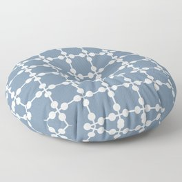 Droplets Pattern - Dusky Blue & White Floor Pillow