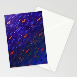 Local Upper Peninsula Electric Neon Pattern Stationery Cards